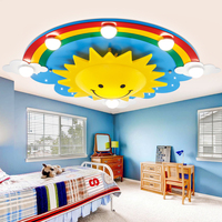 Rainbow Sun Clouds LED Kids Room Ceiling Light Cartoon Bedroom Light Creative Cute Men Girl Room