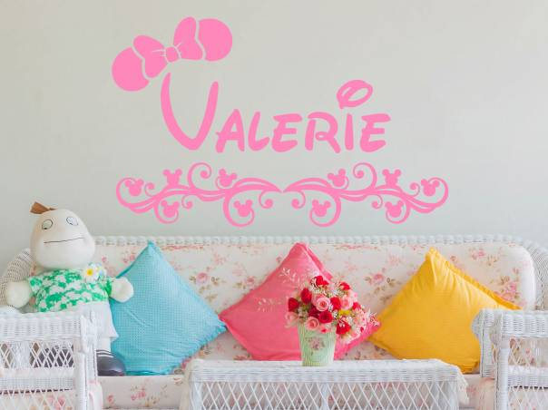 Minnie Mouse Wall Decals Personalized Custom Name Vinyl Decal Sticker Decor For S Bedroom Nursery Baby Room A944 In Stickers From Home