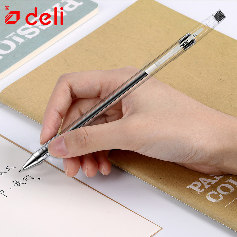 Deli 12 Pcs/set Black ink Gel Pen 0.5mm Writing Neutral Pens 2018 New Arrival Gel Pen School Office Supplies Students Stationery 3pcs set kacogreen liquid ink gel pen plastic student office writing pens black blue red ink school supplies stationery