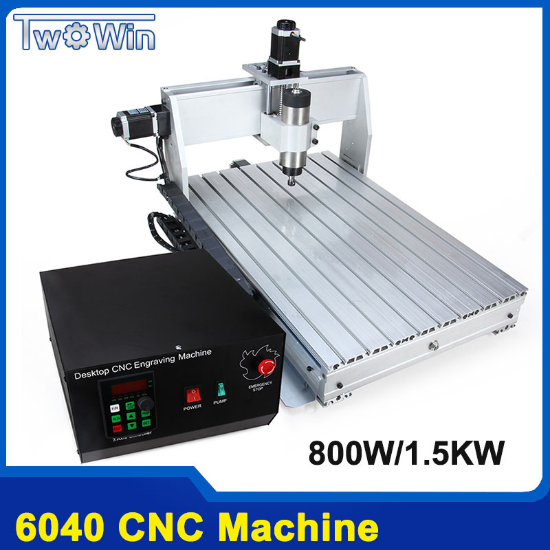 800W/1.5KW CNC 6040 3 axis CNC router CNC wood carving machine USB Mach3 control Woodworking Milling Engraver Machine russain no tax usb port 6040 cnc lathe machine 3 axis router wood cnc milling machine cutting 1 5kw