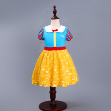 2019 New Halloween Performance Show Snow White Dress  Girl Cosplay Cute Puffy