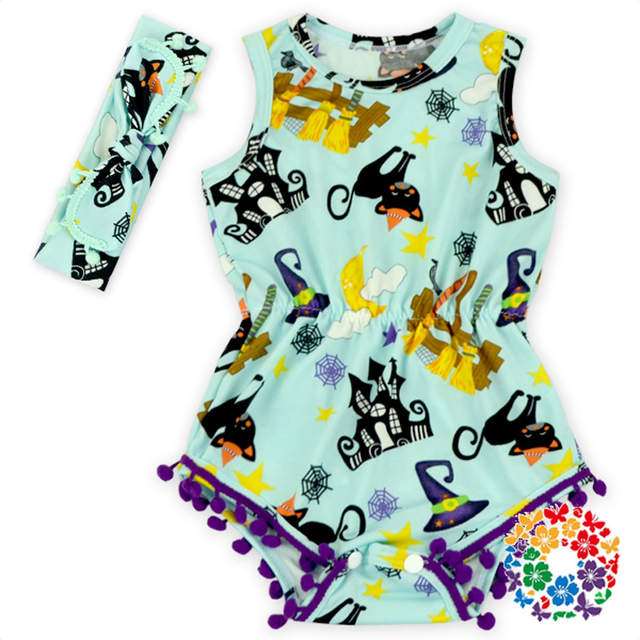 29ef1fa08 wholesale 2018 new design Baby Girl halloween Romper Pretty Romper with headband  set All Saints'