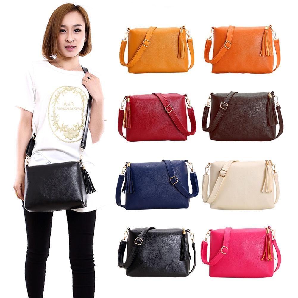 Popular Handbags Mini PU Messenge Bag Small Diagonal Women One Shoulder Tassel Bags High Quality Best Sale-WT