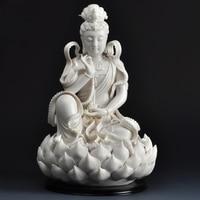 Статуя Гуаньинь белый Будда Керамика Скульптура Home Decor Буддизм Стиль, статуя Гуаньинь