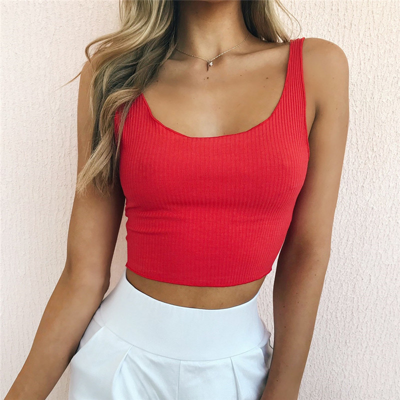 Women Solid Crop Top Sexy Low O Neck Stretch Daily Outfit Fashion Street Wear Ultra Short Mini Tank Tops Summer Camis GRNSHTS in Tank Tops from Women 39 s Clothing
