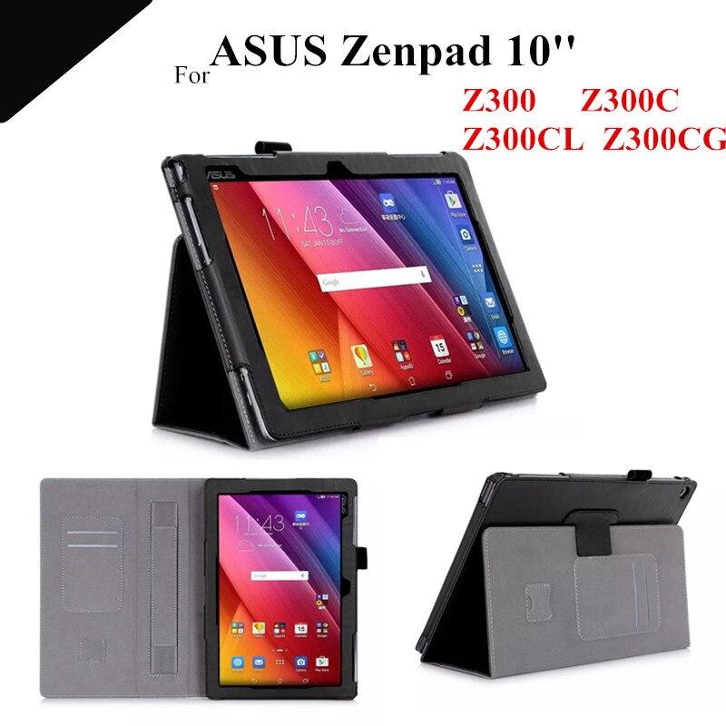 Zenpad 10 Magnet Leather Case For ASUS Zenpad 10 Z300C Z300CL Z300CG 10.1 Z301MFL Z301ML Tablet Case with card slot+protectors