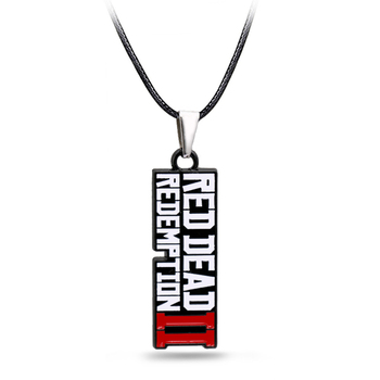 Game Red Dead 2 Redemption necklace Fashion Pendant metal choker necklaces for Men accessories