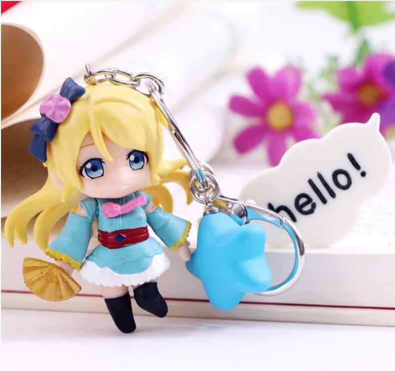 Anime Aşk canlı şekil PVC Anahtarlık kimono eylem şekilli kalıp cep anahtarlık oyuncaklar çocuklar için hediye