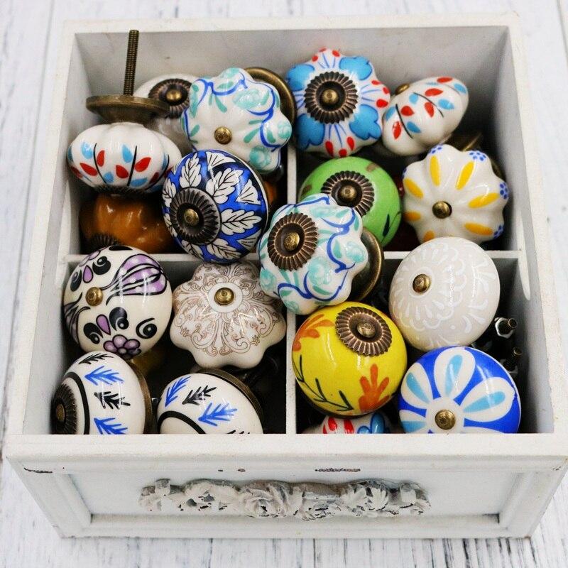 Vintage ceramic handle depicting art drawer cabinet door wardrobe five drawer Door Handle Decorations handle чайные принадлежности ceramic art cx068