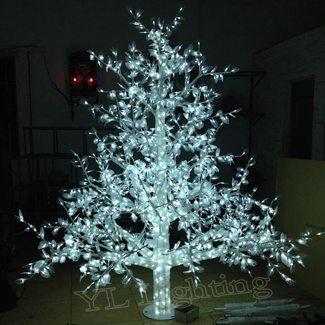2 0meter White Xmas Decorations Christmas Led Light Tree For Holiday