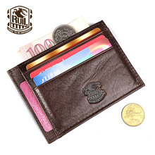 Ruil Hot Sale Fashion Top Quality Genuine Leather Men Purse Vintage Wallet Coin Pocket Purse Card Money Clip free Shipping