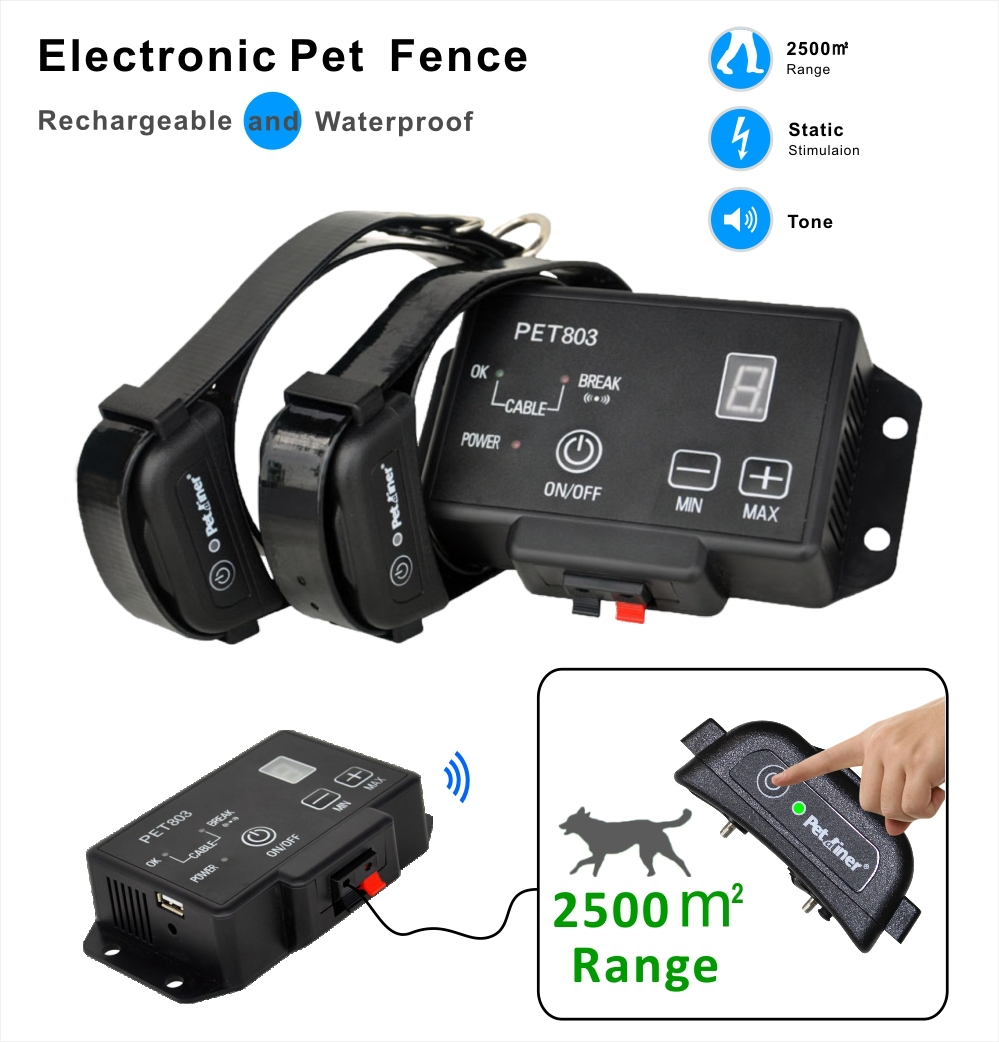 JANPET 2 dogs control dog fence waterproof pet electronic fence with sound shock function