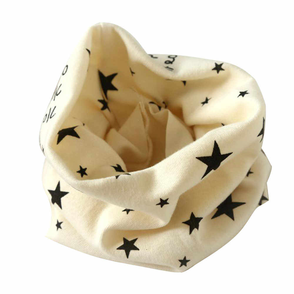 תינוק כותנה צוואר צעיף הדפסת ילדים חם צעיף ילדים קולרים סתיו חורף בני בנות O טבעת צעיף תינוק בד אבזרים # YL1