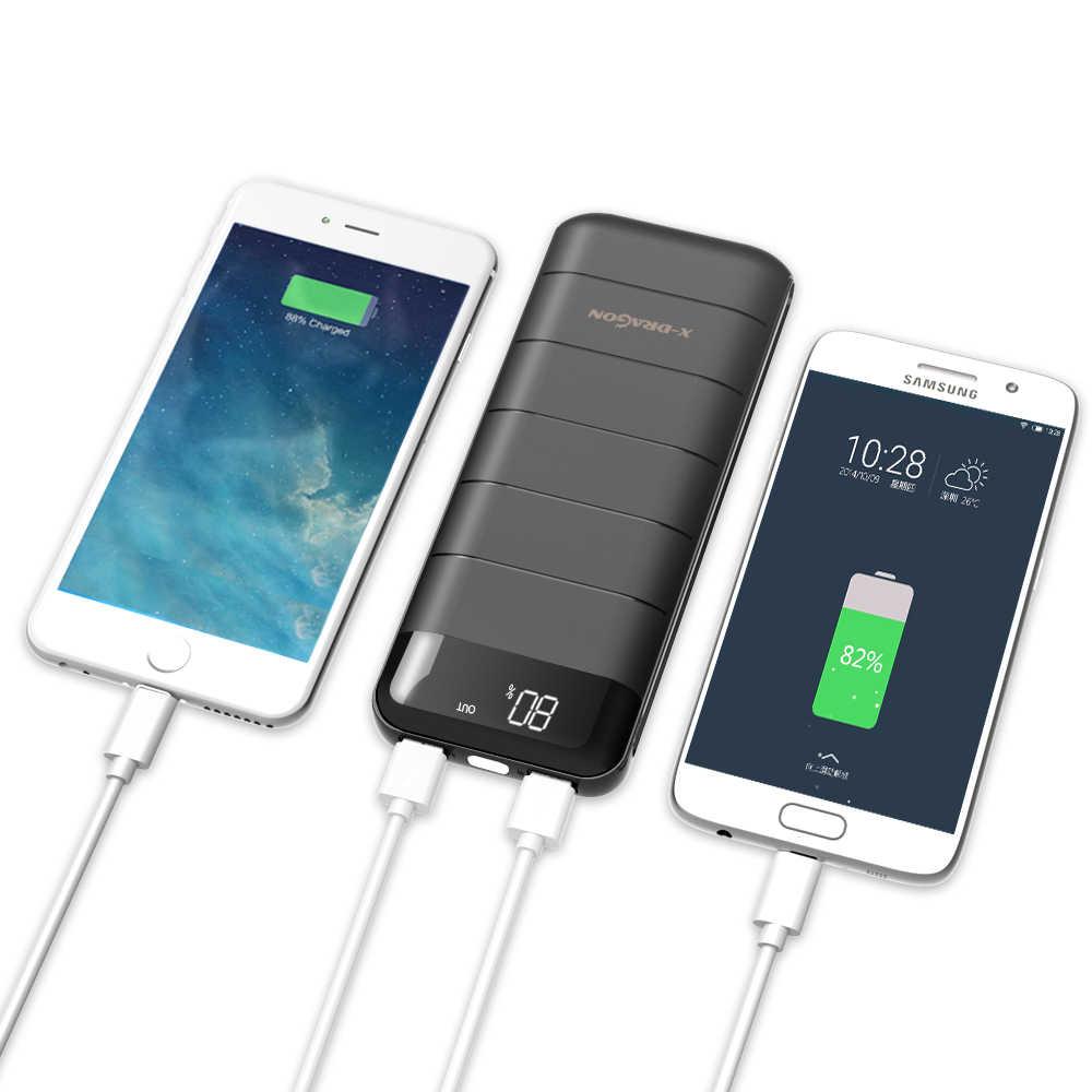 X-DRAGON 電源銀行 15600mAh 外部バッテリー電話充電器 iphone サムスン Xiaomi 携帯電話