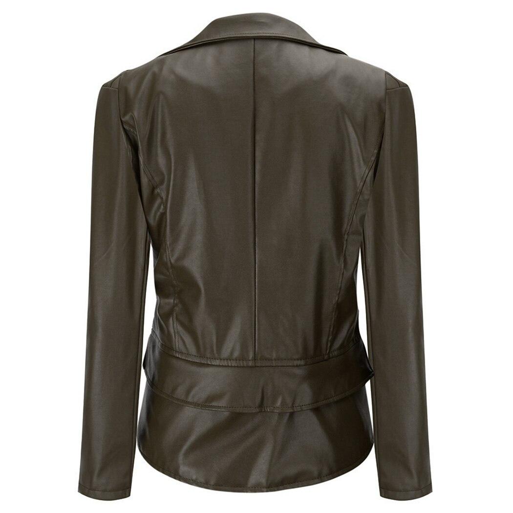 247773029ed Aliexpress.com   Buy 2018 New Women Faux Leather Jacket Gothic Punk  Motorcycle Biker Jackets Bomber Cool Rivet Zipper Black Outwear Female  Coats from ...