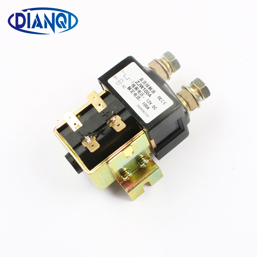 цена на SW80 NO type Coil Voltage 12V 24V 36V 48V 72V 100A DC Contactor ZJW100A for motor forklift electromobile grab wehicle car winch