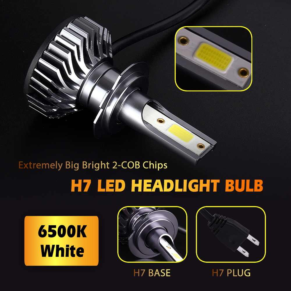 INFITARY Car Headlight H7 LED H4 H1 H11 H13 H3 H27 880 9004 9005 9006 9007 72W 8000LM 6500K 12V 24V COB Auto Headlamp fog light