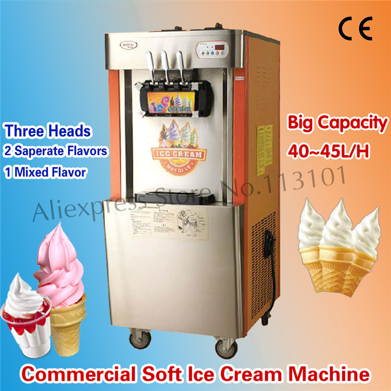 Commercial Soft Ice Cream Machine High Production Capacity 42~45 liters/H Brand New Ice Cream Making Machine edtid new high quality small commercial ice machine household ice machine tea milk shop