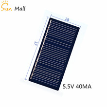 Мини-поли Панели солнечные 5 V/5,5 V 40MA для игрушка «сделай сам»/газонное освещение на солнечной светильник Сенсор светильник s/Солнечный проблесковый светильник 5,5 V
