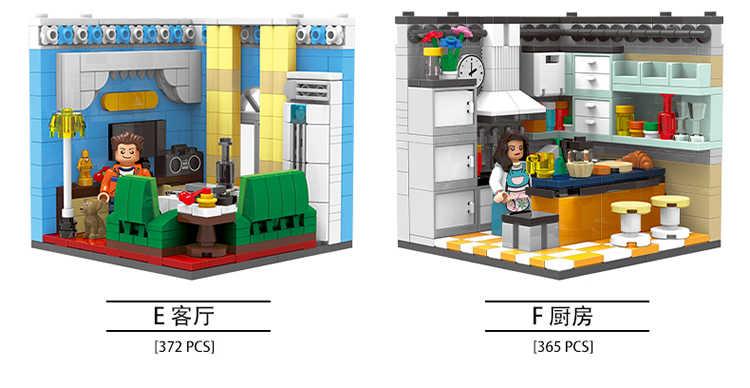 XINGBAO 01401 Baukästen Kreative Street View Home/&Indoor Szene Kinder OVP 6in1