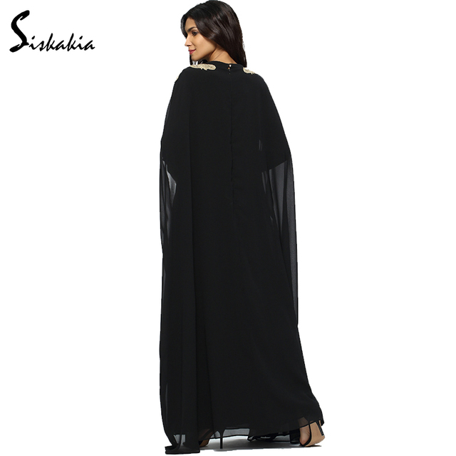 Chiffon Long Sleeve women Abaya Autumn Winter 2017