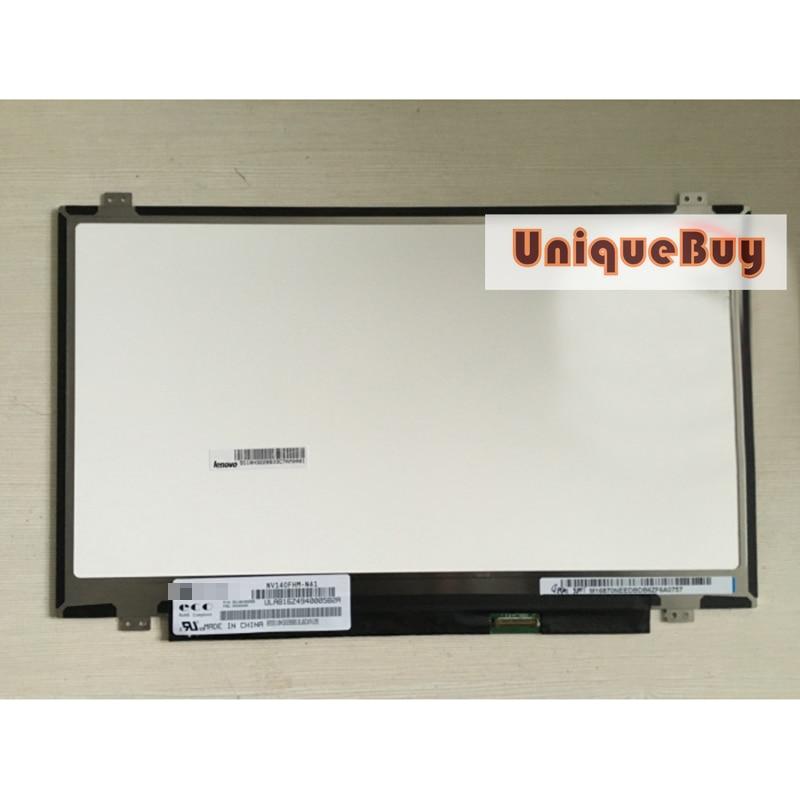 14inch NV140FHM-N41 LCD screen 1920*1080 HD IPS screen For Lenovo E440 E450 T440 Replacement Digitizer Monitor 14 inch b140han02 1 n140han02 0 nv140fhm n41 lp140wf6 spd1 1920 1080 edp 30pins ips lcd display screen matrix replacement repair