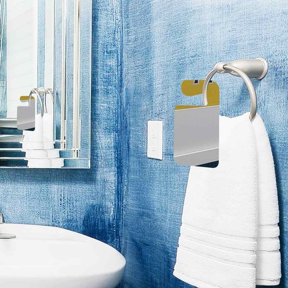 Acrylic Silver Bathroom Mirror Portable Transparent Bathroom Shower Handheld Shaving Mirror Home Wholesale 4jy08 Bath Mirrors Aliexpress