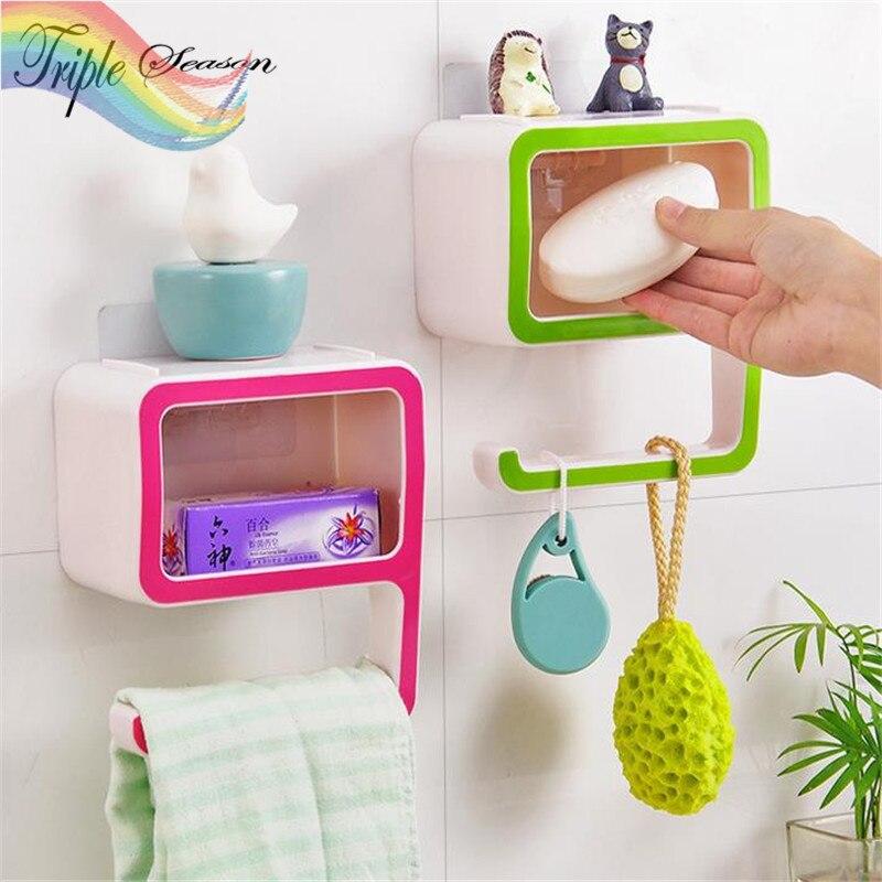 Aliexpress 1 Piece Plastic Soap Dish Bathroom Accessories Sets Creative Holder Non Slip Box Trq397 From Reliable