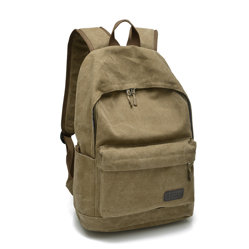 Men Canvas Backpack College Student School Backpack Bags for Teenagers Vintage Mochila Casual Rucksack Travel Daypack PT1106 chic canvas leather british europe student shopping retro school book college laptop everyday travel daily middle size backpack