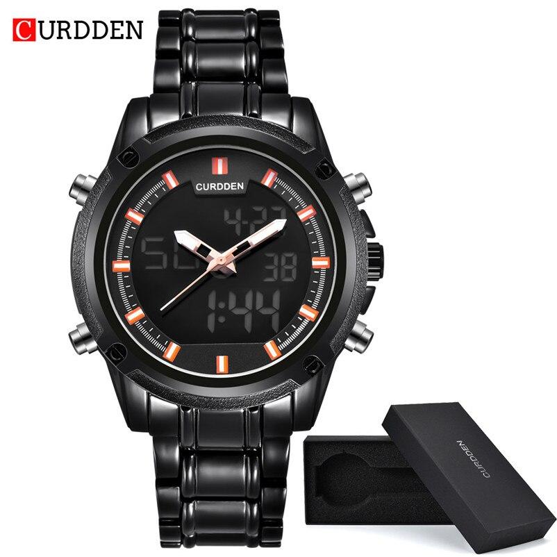 New Brand Mens Watches Top Brand Luxury Stainless Steel Wristwatch Mens Gift Quartz Watch Discount Relogio Masculino #4J05#F