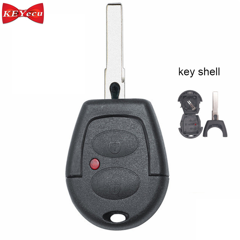KEYECU 3pcs For Volkswagen Passat Polo Golf Sharan Bora For Seat Replacement Remote Control Car Key Shell Case Fob Housing Cover