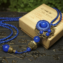 women vintage necklaces hot sales DIY weaving old bronze fish pendant chokers necklace fashion jewelry accessories gift BX025