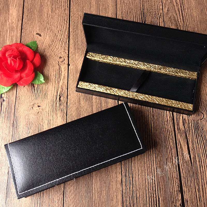 High Quality Leather Pencil Case Luxury Pen Box For Fountain Pen Roller Ball Pen Korean Stationery Student 1212