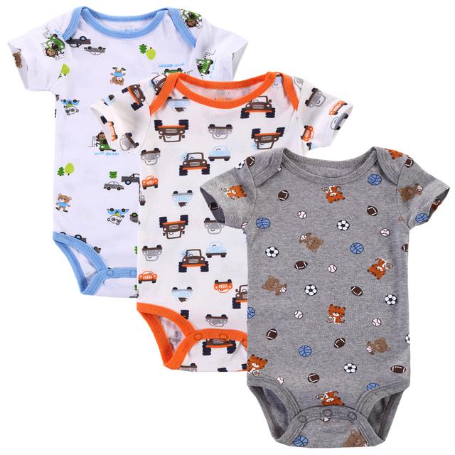 3pcs-lot Baby Boy Rompers