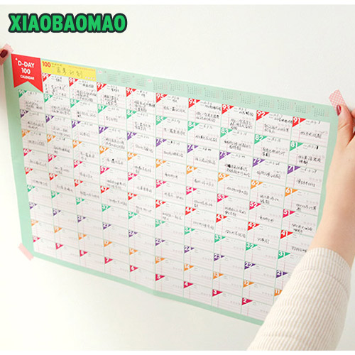 photo about Day Organizer identify 6 sheets / Good deal 100 Times Countdown Calendar Working day Planner Thick
