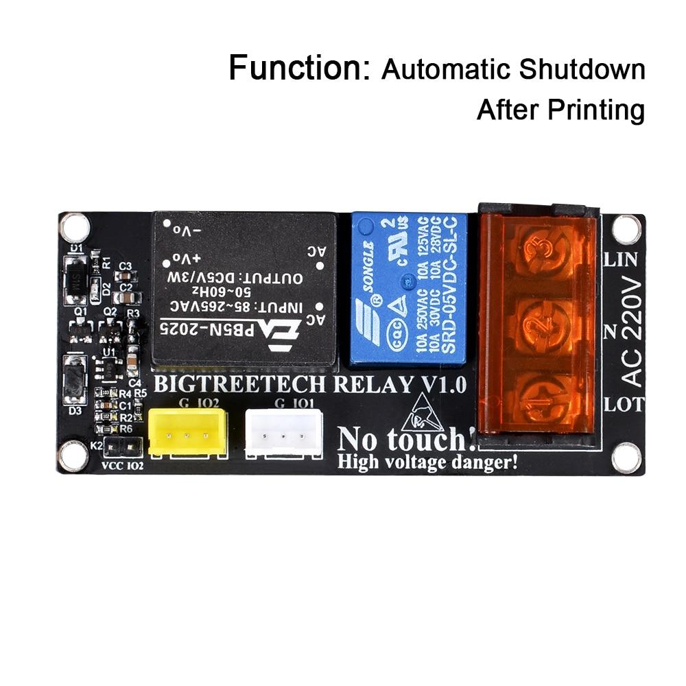 Novo Módulo de Relé Módulo de impresora V1.0 3D Desligamento Automático Após a Impressão para BIQU Trovão peças da impressora extrusora 3D cr10