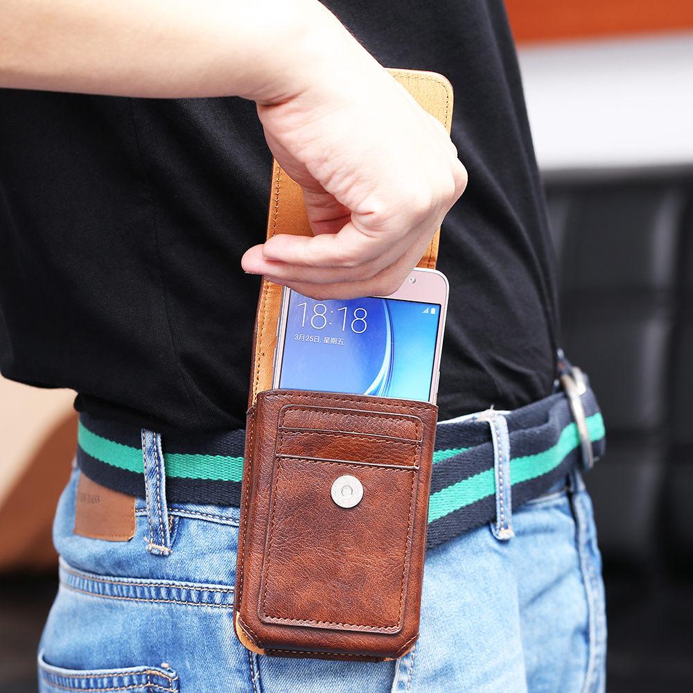 FLOVEME Lyxig väska för midjeväskor i läderbälte för iPhone 6 - Reservdelar och tillbehör för mobiltelefoner - Foto 4