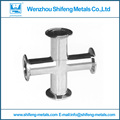 38mm 1.5'' Standard stainless steel 4-way cross pipe fitting