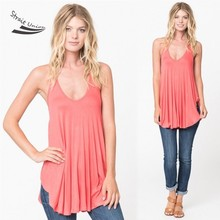 2017 summer style Loose women vest Sexy Spaghetti Strap Irregular Tee Solid Casual Tank Top Women 3 Colors Drop Shipping 51