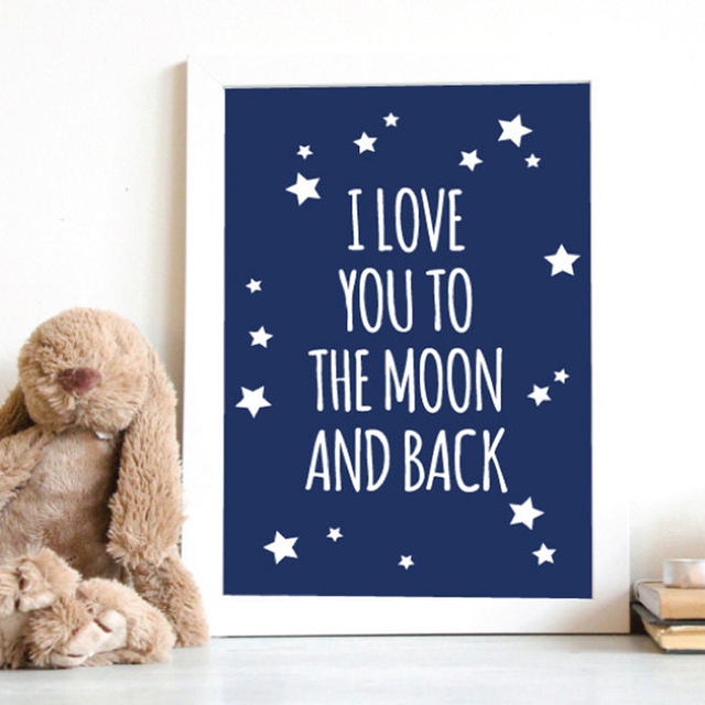 I Love You To The Moon And Back Wall Art aliexpress : buy i love you to the moon and back nursery