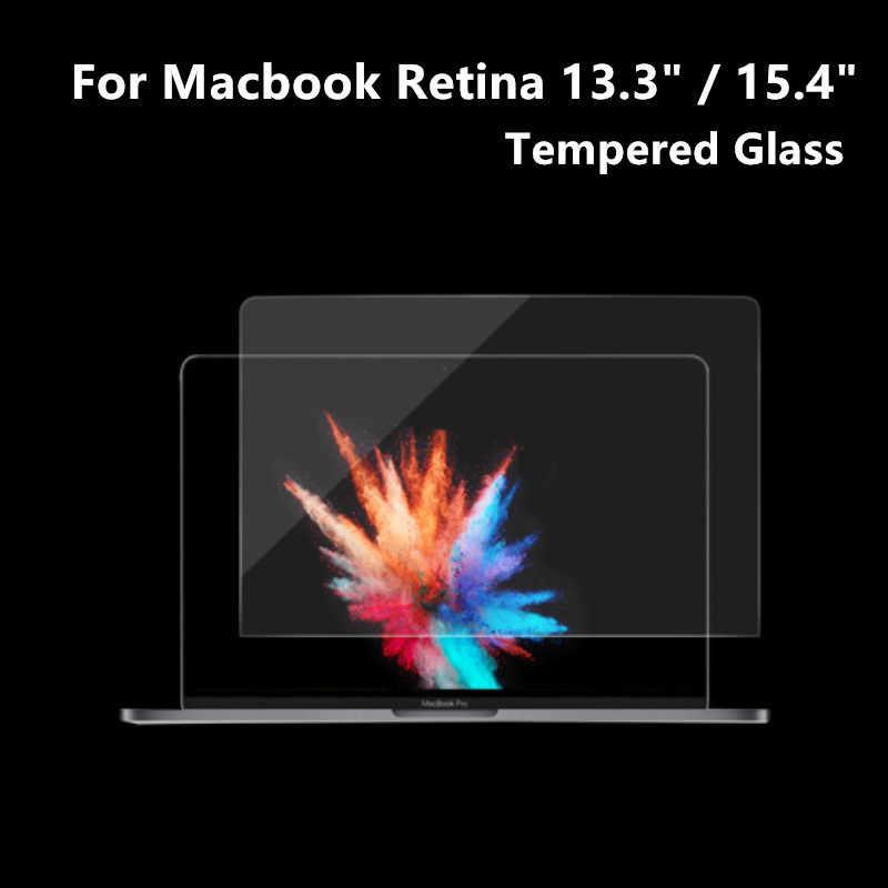 الزجاج المقسى ل أبل الجديد ماك بوك برو الشبكية 13.3 13 A1452 A1502 15.4 بوصة A1398 اللوحي واقي للشاشة طبقة رقيقة واقية