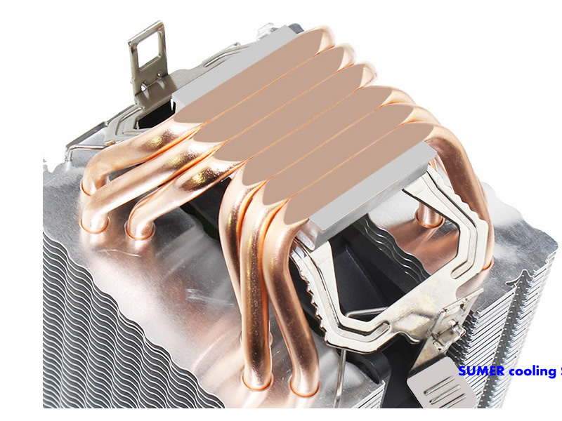 Image 3 - High quality 4PIN CPU cooler 115X 1366 2011,6 heatpipe dual tower cooling 9cm fan,support Intel  AMD-in Fans & Cooling from Computer & Office
