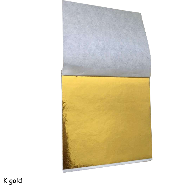 100 Pcs 8.5x9cm Art Craft Imitation Gold Sliver Copper Foil Papers Leaf Leaves Sheets Gilding DIY Craft Decor Design Paper