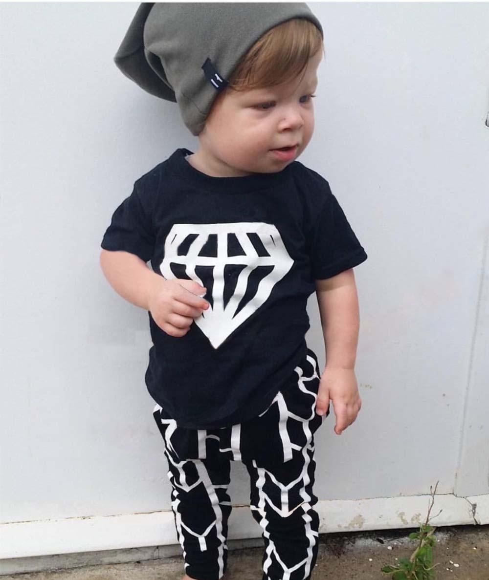 92200f79bd57e 2019 Hot sale baby boy clothes set unisex fashion cartoon short-sleeved  T-shirt+pants 2pcs Infant bebe baby girl clothing set