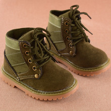 Kids Shoes Boys Boots New Autumn Winter Solid Gentleman Fash