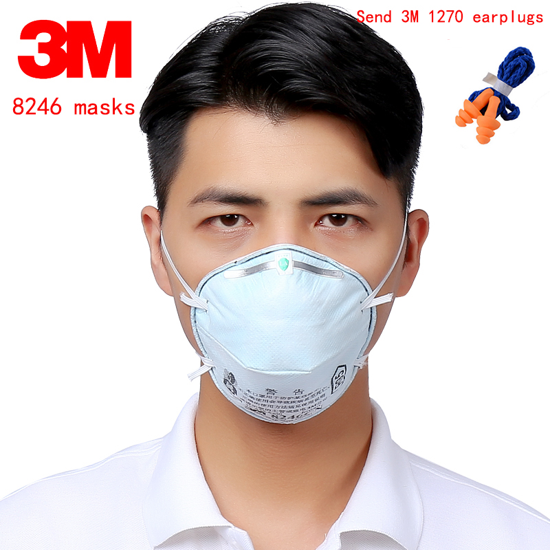 3M 8246 R95 Acid gas respirator mask Activated carbon filter layer protective mask particulates Clean disinfection filter mask