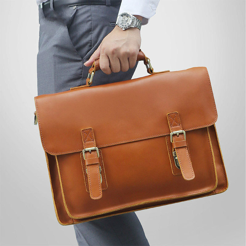 Nice Cowhide Male Handbag Fashion Business Bag For Man Genine Leather Men Briefcase Fit Up To 14 Inch Laptop PR077205B