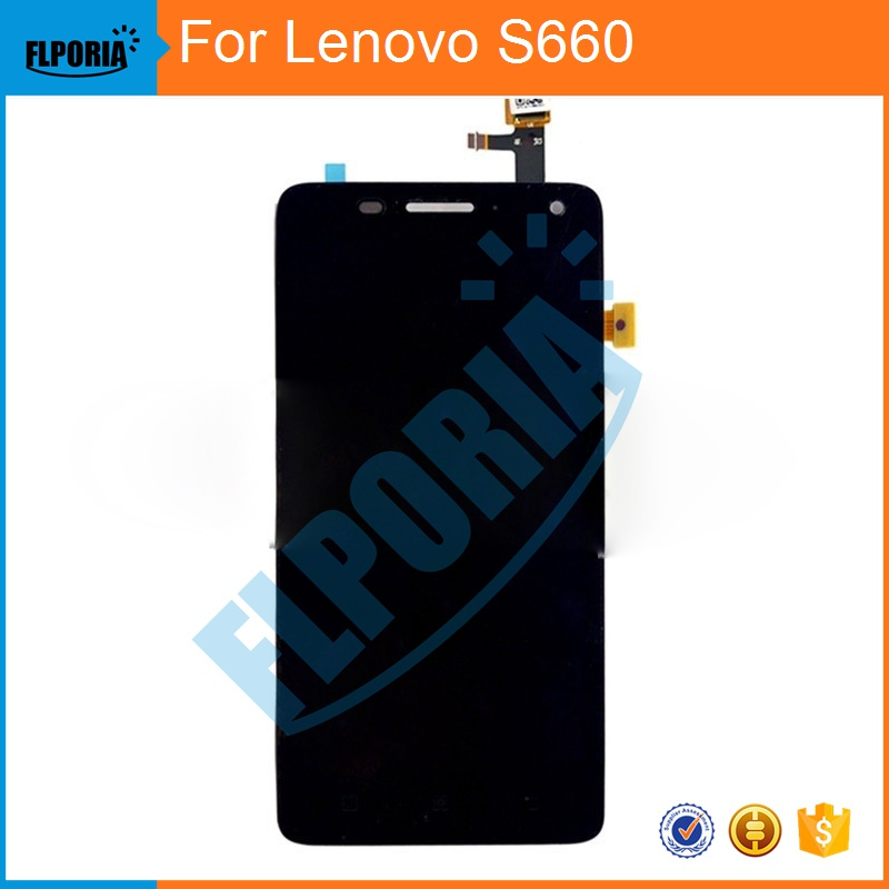 Original for Lenovo S660 LCD Display +Touch Screen Digitizer Panel Glass Screen Assembly Replacement Free Shipping - In Stock free shipping assembly display lcd