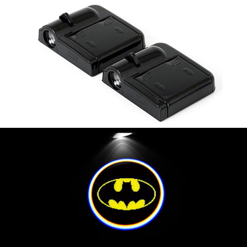2 PCS wireless door the ghost shadow car logo light lights of  car for ja guar JAG XE XF XJ XK F SALOON COUPE welcome light