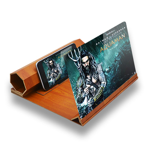 Soporte de madera para pantalla de teléfono con vídeo plegable de 12 pulgadas